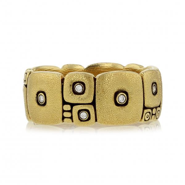 Alex Sepkus 18 Karat Yellow Gold Diamond Wedding Band R 120 120a From Sausalito Jewelers Ca