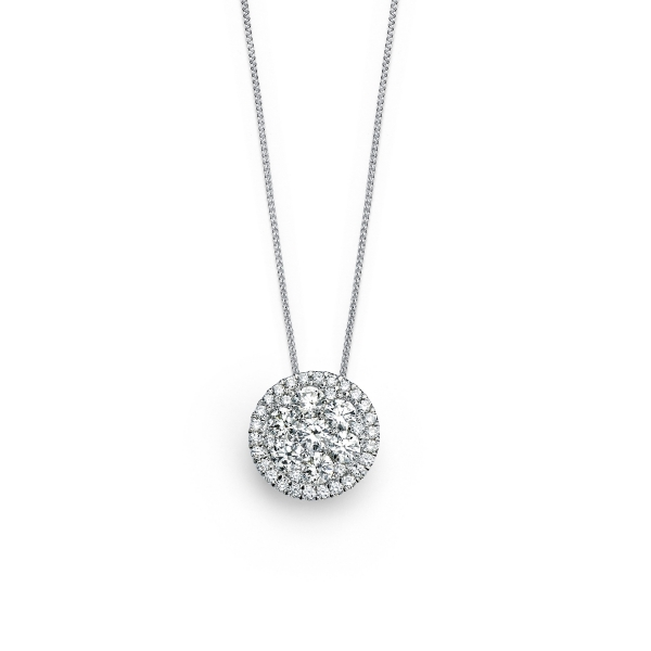 "Forevermark ""Center of My Universe"" Diamond Cluster Pendant by Forevermark"