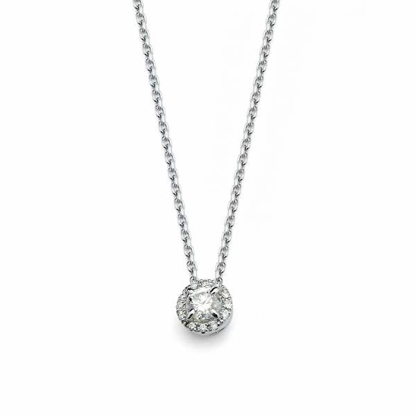 "Forevermark ""Center of My Universe"" Halo Diamond Pendant by Forevermark"